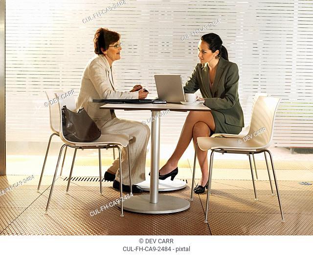 Businesswomen in a restaurant