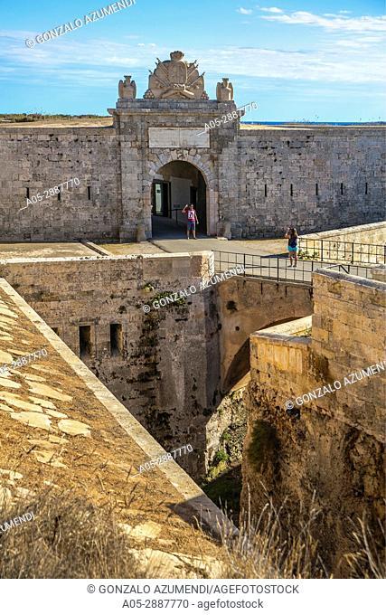 La Mola Fortress (XIX century). Port of Mao. Mao Municipality. Minorca Island. Balearic Islands. Spain