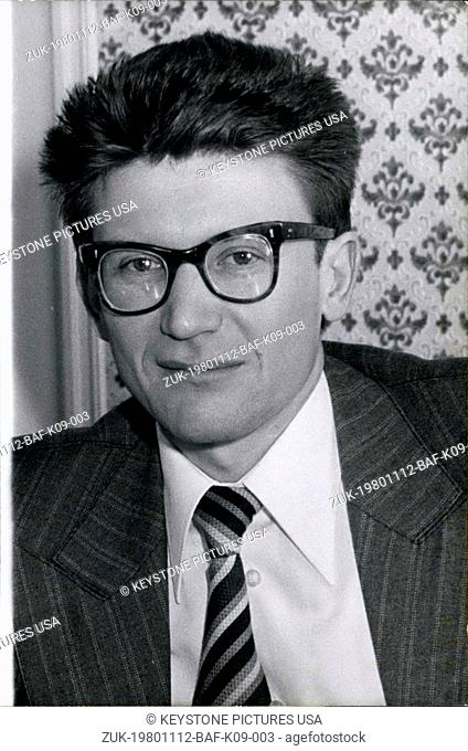 Nov. 12, 1980 - Dissident Soviet historian, Andrei Amalrik, 42, died last night in a car accident 40km north-east of Madrid