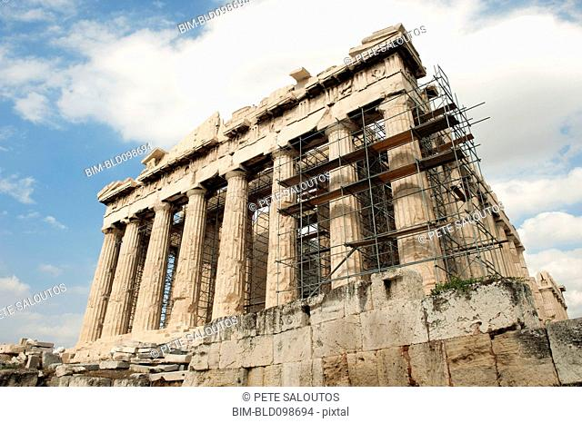 Scaffolding on the Acropolis