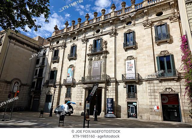 palau de la virreina centre de la imatge la rambla barcelona catalonia spain