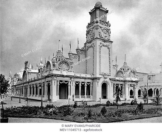 Photograph of the Palace of Music in a souvenir booklet for the Franco-British Exhibition, held at White City, West London