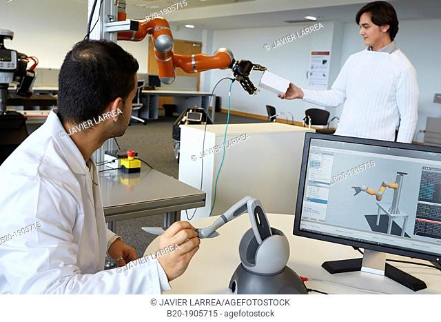 LWR robot, using haptic teleoperation with force feedback  Safety in human-robot cooperation  Industry, Tecnalia Research & innovation