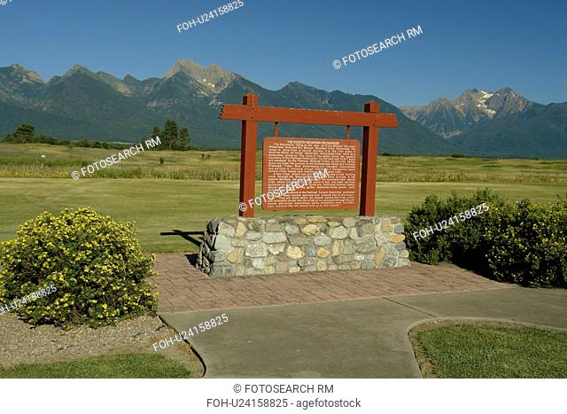 Ronan, MT, Montana, Rocky Mountains, Flathead Indian Reservation, Mission Valley, Mission Mountain Wilderness, sign