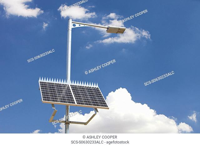 A solar powered street lamp in Victoria, Australia
