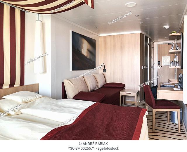 AIDA Prima cruise ship interior, passenger cabin
