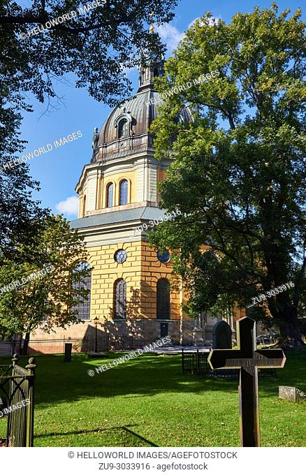 Hedvig Eleonora Church, Ostermalm, Stockholm, Sweden, Scandinavia. . The octagonal church was consecrated in 1737 and is named after the Swedish Queen Hedvig...