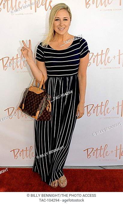 """Victoria Frantz attends Tammin Sursok And The Grammy Museum Celebrate The """"""""Launch Of Bottle And Heels"""""""" charity at a private residence in Los Angeles"""