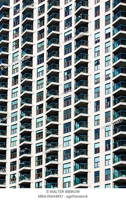 Canada, Ontario, Toronto, Harbourfront, highrise building detail
