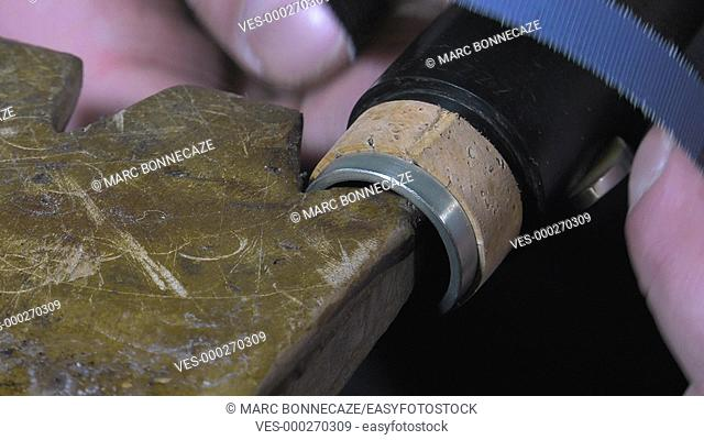 replacement of a cork gasket
