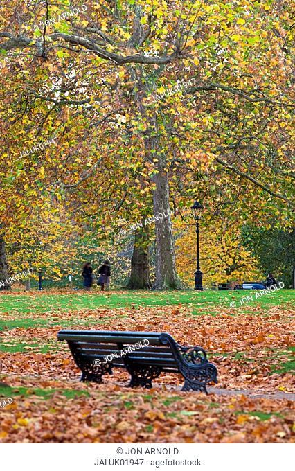 Autumn in Green Park, London, England