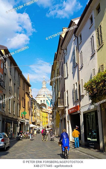 Via Roma, Mantua, Lombardy, Italy