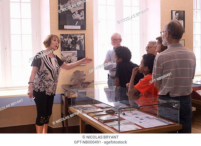 THE JEAN MERMOZ MUSEUM RETRACES THE LIFE OF THE FAMOUS AVIATOR, A TOP FIGURE OF THE AEROPOSTALE, AUBENTON, AISNE (02), PICARDIE, FRANCE