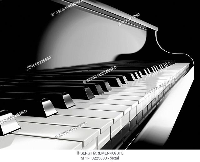Piano keys, illustration
