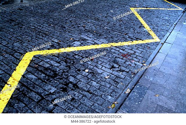 Yellow line of no parking