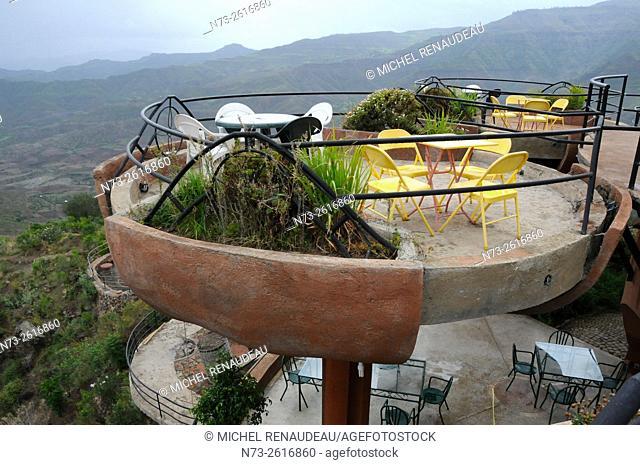 Ethiopia, Amhara Region, Lalibela Hotel and restaurant