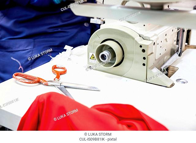 Seamstress working in factory, Cape Town, South Africa