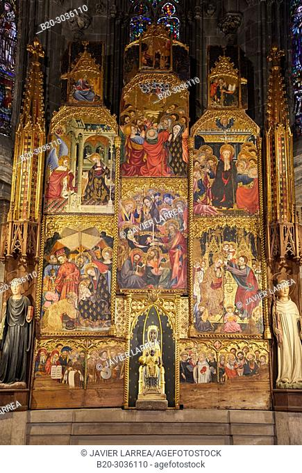 Chapel of the Carmona, Virgin of Montserrat, Cathedral, Tarragona City, Catalonia, Spain, Europe