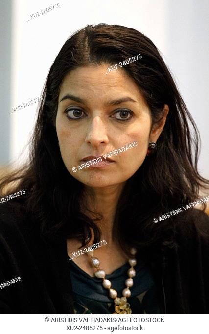 "An Indian American author JHUMPA LAHIRI presents her new book """" The Lowland"""" in Athens Greece"