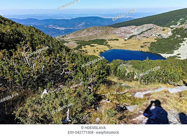 Amazing Landscape of Yonchevo lake, Rila Mountain, Bulgaria
