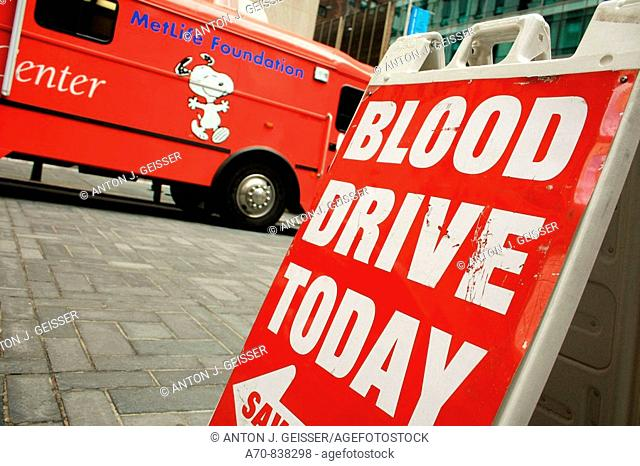 Donation of blood bus New York City
