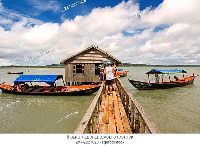 Hut in the Ream National Park. Ream National Park is a pristine maritime park just outside Sihanoukville. Notable for its mangrove forests
