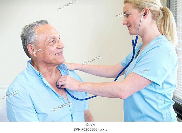 Female doctor examining patient