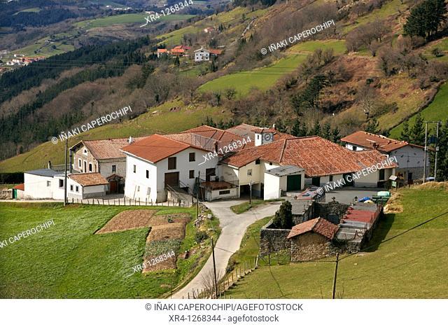 Urdaneta quarter, Pagoeta Natural Park, Aya Aia, Guipuzcoa Gipuzkoa Basque Country Euskadi, España Spain