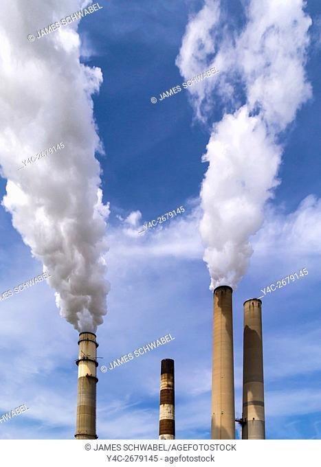 Tampa Electric Companys coal fired BIg Bend Power Station on Tampa Bay in Hillsborough County near Apollo Beach Florida