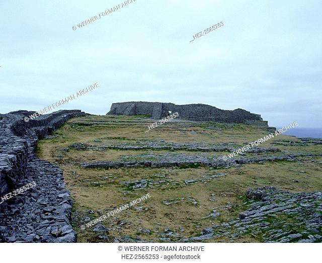 The Fort of Dun Aengus on the Isle of Inishmore, Co. Galway. Said to have been built by the mythical race, the Fir Bholg. Country of Origin: Ireland
