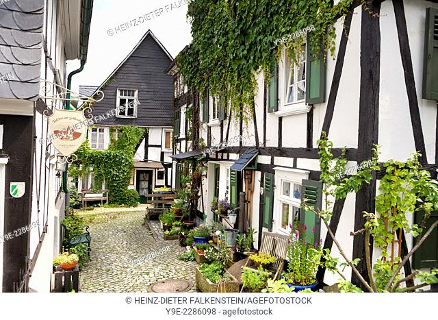 Historic town centre, Alter Flecken, Freudenberg, Siegerland region, North Rhine-Westphalia, Germany, Europe