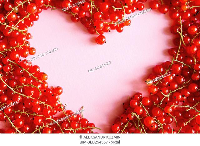 Red berries in heart-shape