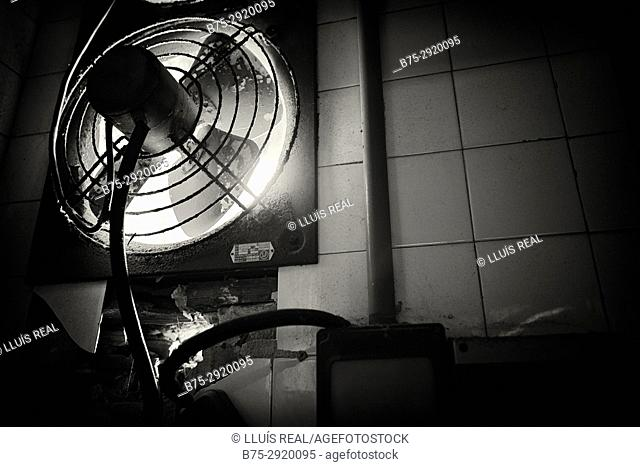 Close up of extractor fan
