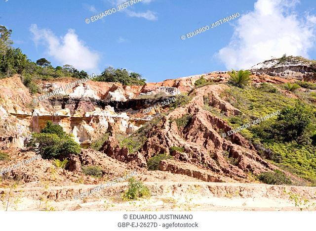 Process Erosive in Cliff Died, Paleofalésia, Ilhéus, Bahia, Brazil