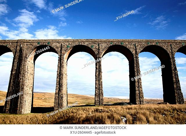 Arches of the Ribblehead Viaduct Ribblehead Yorkshire Dales England
