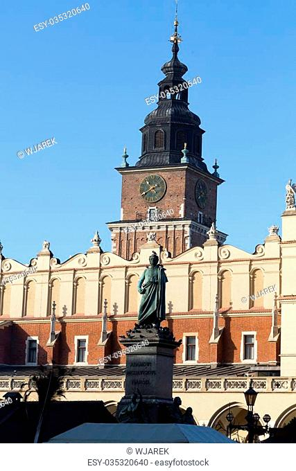 Facade of the Sukiennice on the Main Market Square in Krakow