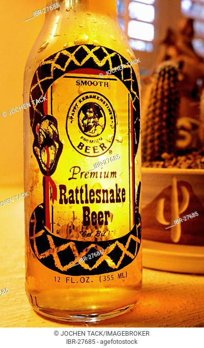 USA, United States of America, Arizona: Rattlesnake Beer brand in Arizona