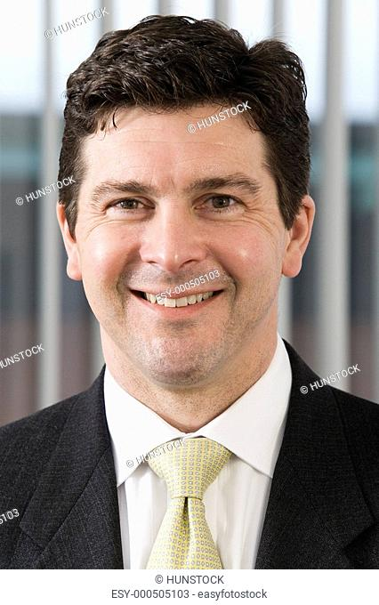 Portrait of a business man smiling