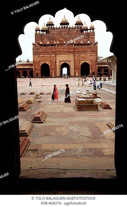 Buland Darwaza, Jami Majid mosque. Fatehpur Sikri. Uttar Pradesh. India