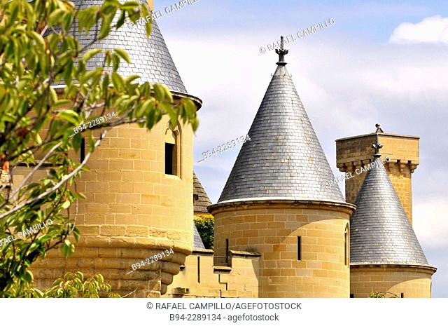 Palace of the Kings of Navarre or Royal Palace or Castle of Olite (13th-14th century), Olite, Navarre, Spain