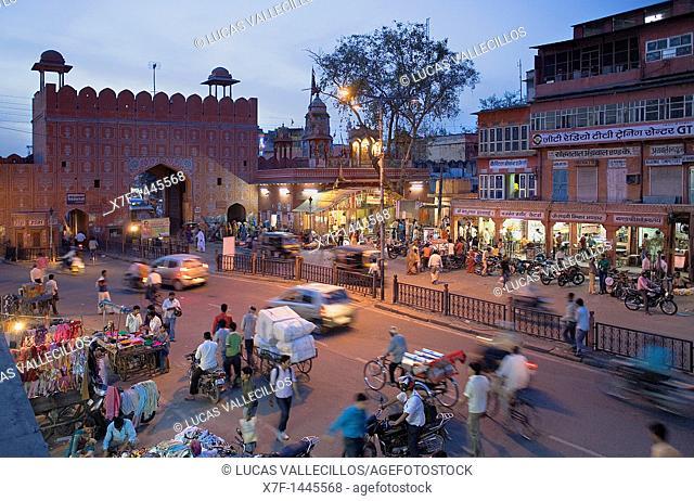 Chandpol gate,Jaipur, Rajasthan, India