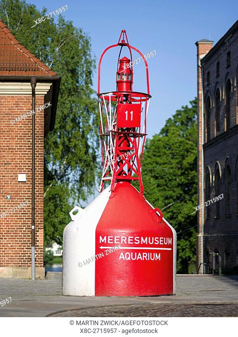 Deutsches Meeresmuseum (German Oceanic Museum) in the former church Katharinenkirche. The Hanseatic City Stralsund. The old town is listed as UNESCO World...