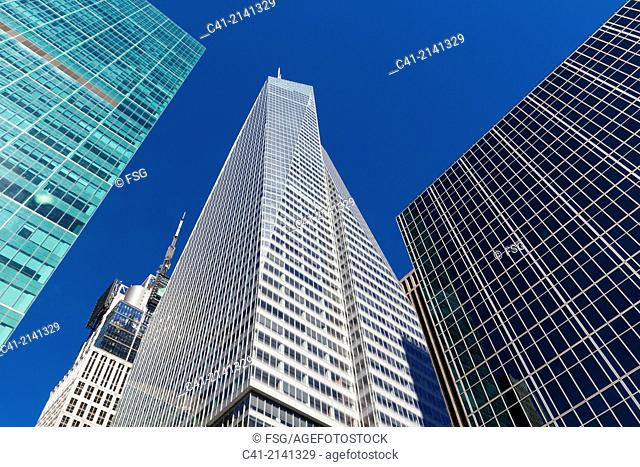 Financial district buildings. New York City. NY, USA