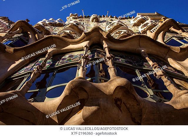 Casa Batllo (Batllo House) by Antonio Gaudi, Barcelona, Spain