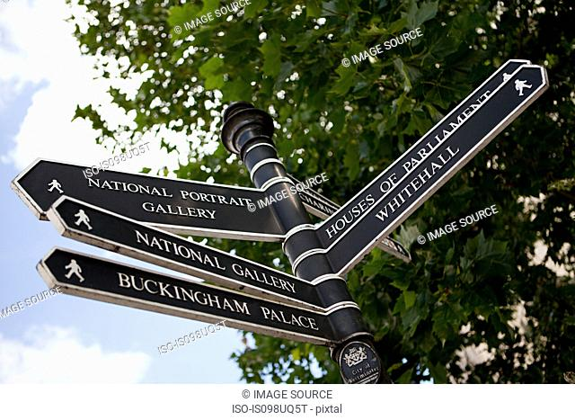 Signpost in London