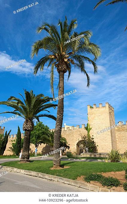 Majorca, Mallorca, Balearic Islands, island, isle, islands, isles, Spain, Europe, Spanish, Europe, European, outdoors, Outside, day, nobody, Alcudia, town wall