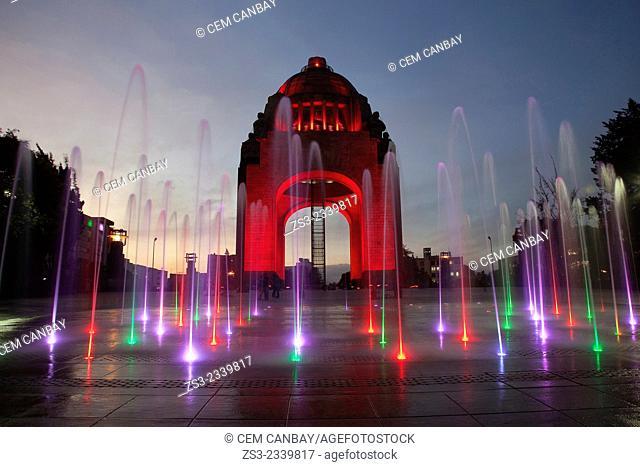 Monument dedicated to the Mexican Revolution Monumento dedicado a la Revolución Mexicana at night, Mexico City, Mexico, Central America
