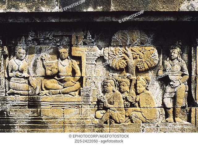 First gallery east. Upper six rows. Borobudur, Indonesia