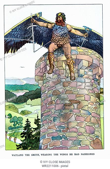 According to Norse and Germanic mythology, Wayland was a legendary hero and a great blacksmith. Legends say that he was the son of the king of the Finns