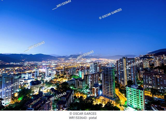 Panoramic of The Poblado, Medellin, Antioquia, Colombia